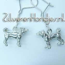 5c0fbaa36 Elegant drop Earring with 3D mini Dog | 094OH10 -Appenzeller